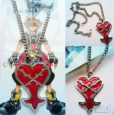 collana cosplay kingdom hearts necklace sora heartless 5 cm halskette red chain