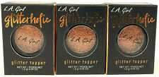 (3) L.A. Girl LA Girl Glitterholic Glitter Topper 0.04 oz NIP GGP458 - Electrify