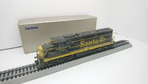 Tenshodo HO Train Brass Santa Fe Weathered EMD SD24 Powered Diesel Locomotive