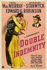 Double Indemnity Movie Poster Barbara Stanwyck Vintage
