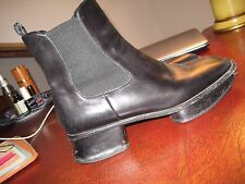 Prada Italy Blk Split-Sole Platform Squared Toe Ankle Boots Shoes 41/10/10.5