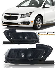 2015 2016 Chevy Cruze Fog Lights Clear Lamp Bulbs+Wiring Harness+Switch-KIT