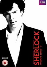 Sherlock DVD Boxset The Complete Series 1-3 (2014, 6-Disc Set) BBC  NEW & SEALED