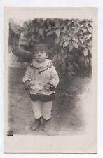 PHOTO ANCIENNE Enfant Jeu Jouet Costume Déguisement Arlequin Loup 1920 Bras