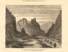 1879  ANTIQUE PRINT - AFGHAN WAR - A VIEW IN THE BOLAN PASS