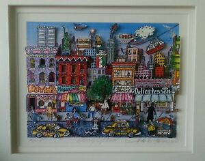 """Charles Fazzino original puzzle 3-D picture """"Going Uptown"""" New York"""