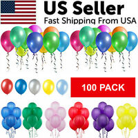 100PCS Colorful Latex Balloon 10 Inch Wedding Birthday Bachelorette Party Decor