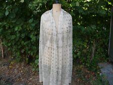 28dd63c50e24 Ancien Châle Egyptien Assiut Art Déco foulard vintage motifs d argent 1930