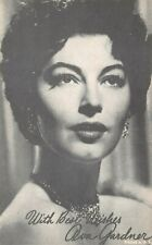 (238)  Vintage Photograph Actress Ava Gardner Signed