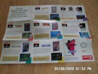 Nintendo NES Capcom Craze Club Promo Poster / Insert