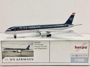 Herpa Wings US Airways Boeing 757-200 1:500 513173