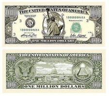 1 Million Dollar Bill Movie Prop Fake Money Novelty Traditional Liberty 25 Lot