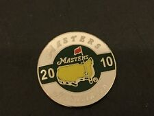2010 US MASTERS Augusta Logo Flat Coin GOLF BALL MARKER New PHIL MICKELSON