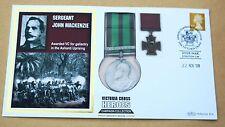 VICTORIA CROSS HEROES SERGEANT JOHN MACKENZIE 2009 BENHAM REPLICA MEDAL COVER