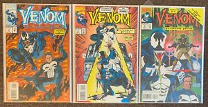 Venom #1,2,3 Funeral Pyre Featuring The Punisher Marvel Comics Complete Set lot