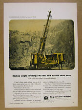 1964 Ingersoll-Rand Drillmaster drill angle drilling vintage print Ad