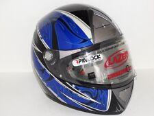 Motorradhelm Integralhelm Lazer Fiber D1 Blau XL UVP €199,95 REDUZIERT -50%