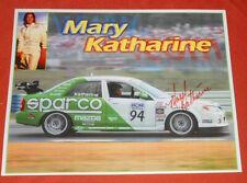 Mary Katharine Auto Racing Mazda Protégé Print Card 2006 SIGNED 10x8
