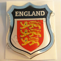 Sticker England Emblem Coat of Arms Shield 3D Resin Domed Gel Vinyl Decal Car