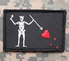 BLACKBEARD PIRATE FLAG NAVY SEAL TEAM 3 EDWARD TEACH VELCRO® BRAND FASTEN PATCH