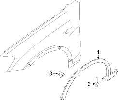 Flare Wheel arch Left Front Genuine BMW X3 F25 X4 F26 Non M Sport 51777210081