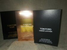 NEW TOM FORD, 3 different scent perfume samples, OMBRE LEATHER, NOIR POUR FEMME