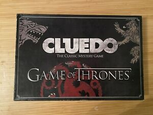 Cluedo Game of Thrones Edition Classic Mystery Game 100% Complete Hasbro