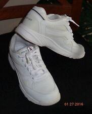 Men's ROCKPORT Prowalker WHITE LEATHER WALKING SHOE 7.5 M Barnwell K70498 35027