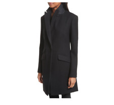 Rag & Bone Duchess Wool Blend Coat Black Size 0