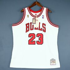 ca1cf3a78d56 100% Authentic Michael Jordan Mitchell   Ness 95 96 Finals Bulls Jersey 52  2XL