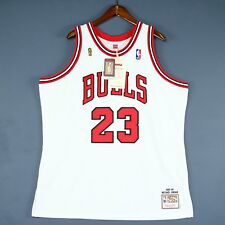 8960803e744 100% Authentic Michael Jordan Mitchell   Ness 95 96 Finals Bulls Jersey 52  2XL