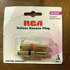 RCA~Deluxe Banana Plug Pkg of 2 Audio connects up to 12 gauge speaker 2001 AH10