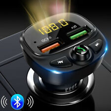 Bluetooth 5.0 Wireless Handsfree Car FM Transmitter MP3 Player Dual USB Charger