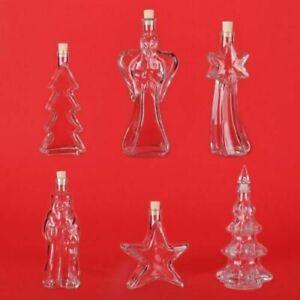 Weihnachtsflaschen leere Glas-Flaschen Weihnachten Likörflaschen Schnapsflaschen