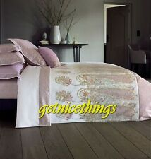 Yves Delorme Rangoon Full Fitted Sheet Floral White Lavender Egyptian Cotton New
