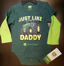 UNISEX INFANT JOHN DEERE JUST LIKE DADDY LONG SLEEVED BODYSUIT SIZE 6-9 MONTHS