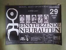 EINSTURZENDE NEUBAUTEN Vintage Concert Tour Poster Belgium 1990