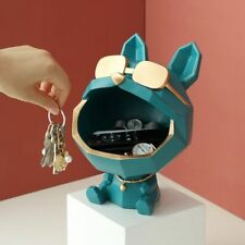 Cool dog Figurine big mouth dog storage box home decoration ornamental resin art