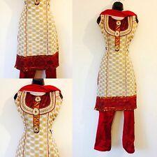 Indio Paquistaní Anarkali Salwar Kameez Ladies suit any Mujeres Fiesta Tamaño XXS
