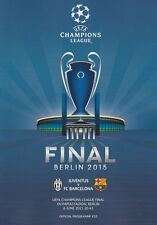 2015 UEFA CHAMPIONS LEAGUE FINAL BARCELONA v JUVENTUS OFFICIAL MINT PROGRAMME