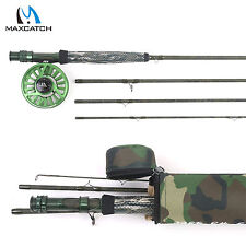 Camo Fly Rod & Reel Combo 9' 5WT 4Sec Fast Action 5/6WT Fly Fishing Reel Green