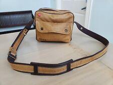 Leica Leitz Vintage Tan Leather Shoulder Bag Combination Case Made in Germany