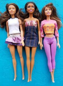 Barbie doll Hispanic Latino aa black lot of Barbie dolls Brunette nikki