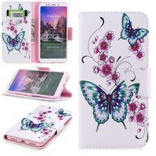 Para Samsung Galaxy A7 A750F 2018 Bolsa de Piel Sintética Libro Diseño 22