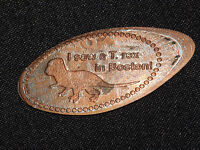 VINTAGE ELONGATED  SOUVENIR PENNY I SAW A T REX IN BOSTON DINOSAUR