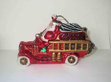 Early Polonaise Glass - Santa Fire Engine Christmas Ornament
