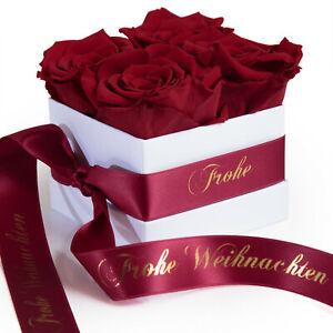 Frohe Weihnachten Geschenk Blumenbox konservierte Rosen Rosenbox für Mama Oma