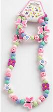 Childrens Girls Butterfly & Stars Necklace & Bracelet Set - Brand New