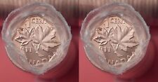Brilliant Uncirculated 2011 Canada Magnetic & NonMagnetic 1 Cents Rolls