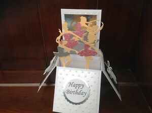 Pop up card Ballet themed birthday card